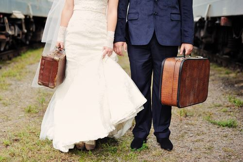 honeymoon suitcase